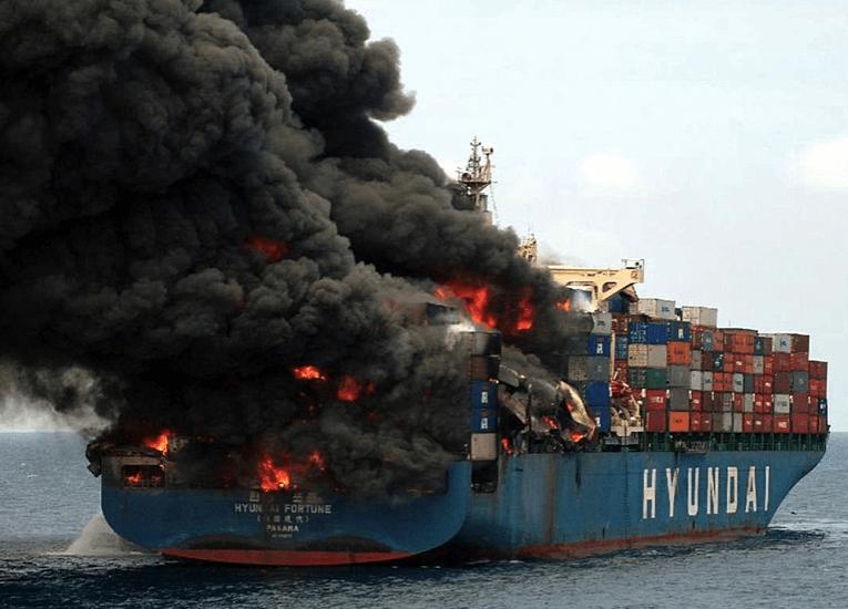 Incendios en buques